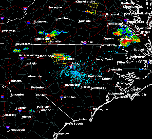 Radar Image for Severe Thunderstorms near Hillsborough, NC at 6/25/2015 5:47 PM EDT