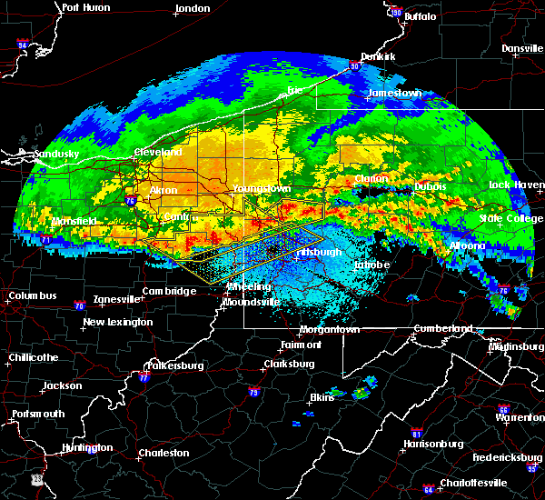 Radar Image for Severe Thunderstorms near Curtisville, PA at 4/8/2020 12:50 AM EDT