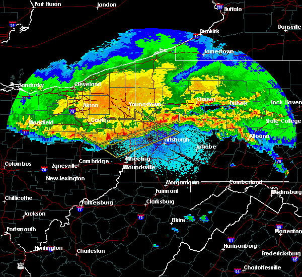 Radar Image for Severe Thunderstorms near Nixon, PA at 4/8/2020 12:57 AM EDT