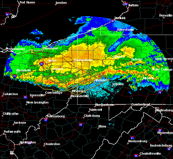 Radar Image for Severe Thunderstorms near Curtisville, PA at 4/8/2020 1:19 AM EDT
