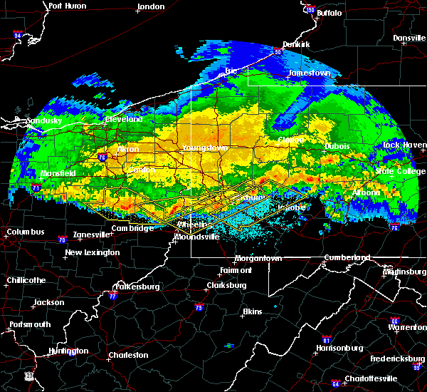 Radar Image for Severe Thunderstorms near Elrama, PA at 4/8/2020 1:25 AM EDT