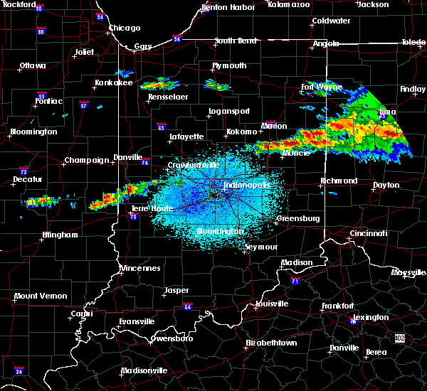 Radar Image for Severe Thunderstorms near Bloomingdale, IN at 4/8/2020 1:28 AM EDT