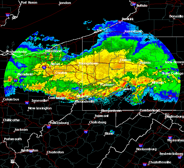 Radar Image for Severe Thunderstorms near Elrama, PA at 4/8/2020 1:42 AM EDT