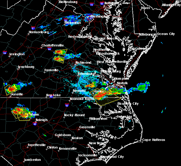 Radar Image for Severe Thunderstorms near Chesapeake, VA at 6/25/2015 5:51 PM EDT