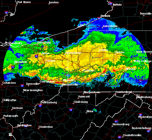 Radar Image for Severe Thunderstorms near East Washington, PA at 4/8/2020 1:46 AM EDT