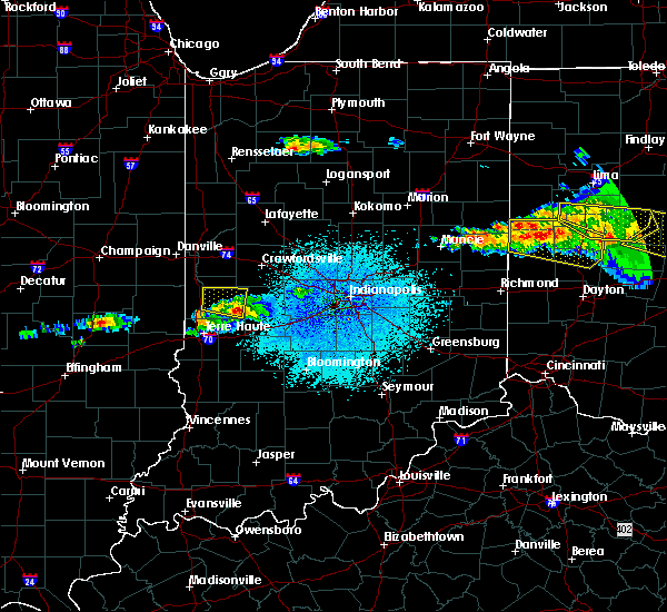 Radar Image for Severe Thunderstorms near Bloomingdale, IN at 4/8/2020 1:59 AM EDT