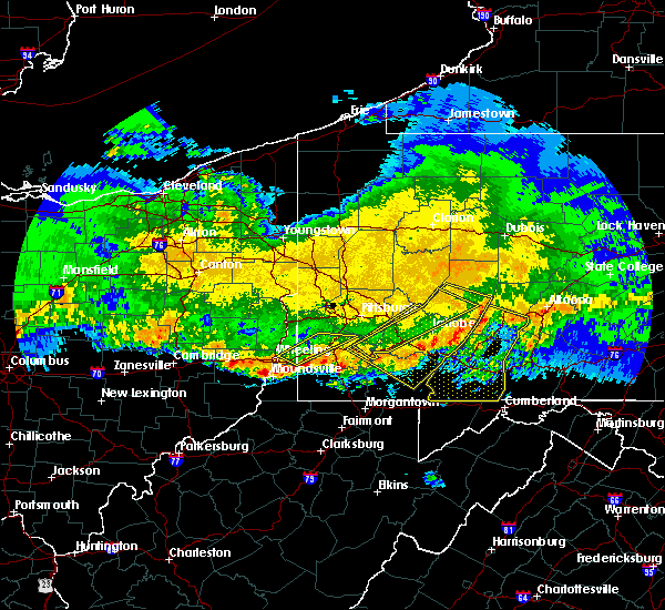 Radar Image for Severe Thunderstorms near East Washington, PA at 4/8/2020 1:59 AM EDT