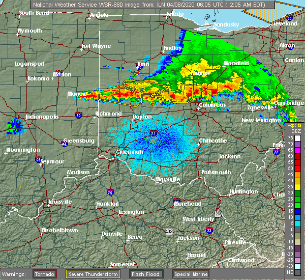 Radar Image for Severe Thunderstorms near Anna, OH at 4/8/2020 2:10 AM EDT