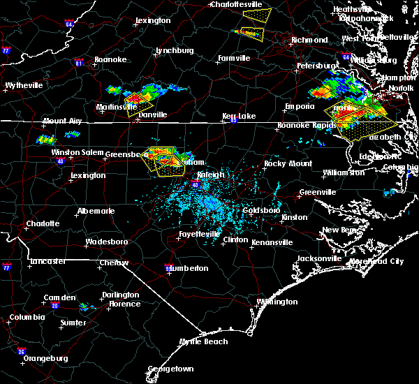 Radar Image for Severe Thunderstorms near Durham, NC at 6/25/2015 5:53 PM EDT