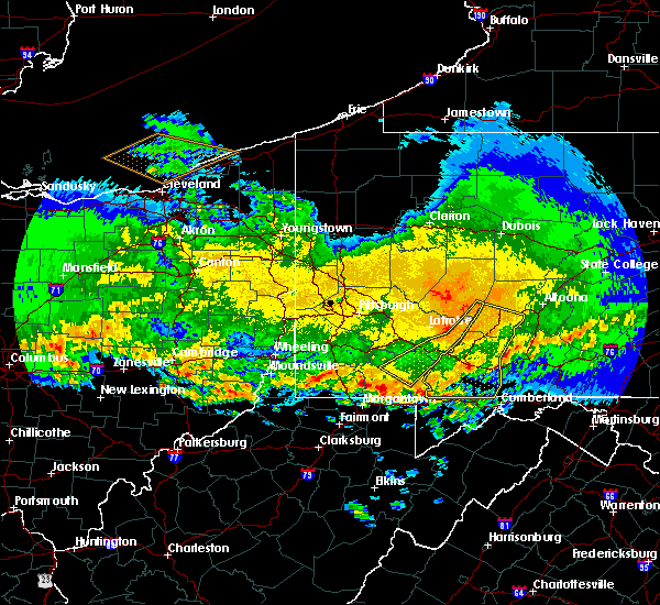 Radar Image for Severe Thunderstorms near Deer Lake, PA at 4/8/2020 2:24 AM EDT