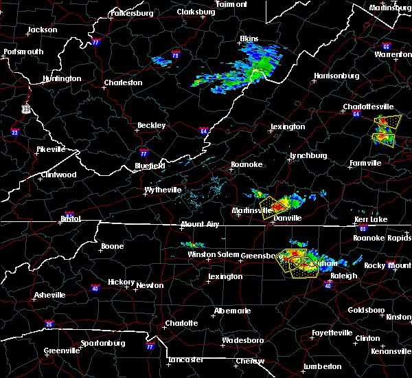 Radar Image for Severe Thunderstorms near Blairs, VA at 6/25/2015 5:54 PM EDT