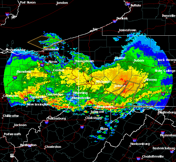 Radar Image for Severe Thunderstorms near Mountain Lake Park, MD at 4/8/2020 2:35 AM EDT
