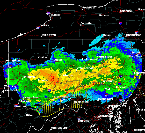 Radar Image for Severe Thunderstorms near Waynesboro, PA at 4/8/2020 2:55 AM EDT
