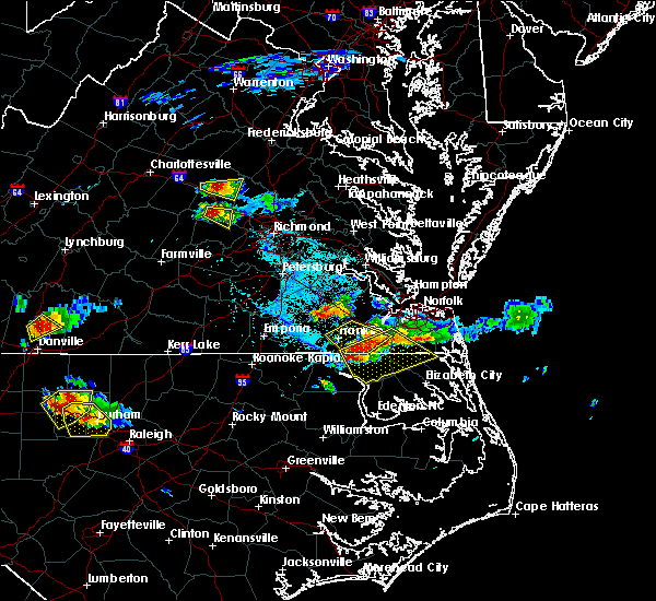 Radar Image for Severe Thunderstorms near Goochland, VA at 6/25/2015 5:57 PM EDT