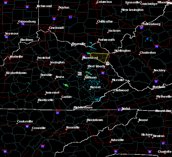 Radar Image for Severe Thunderstorms near Grayson, KY at 6/25/2015 6:00 PM EDT