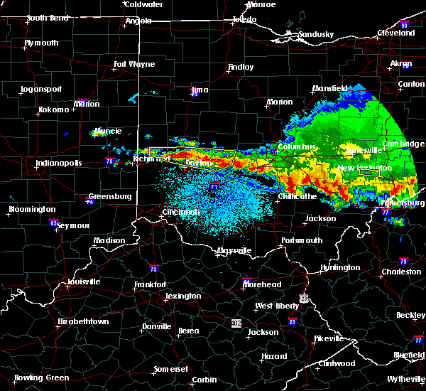 Radar Image for Severe Thunderstorms near Brookville, OH at 4/8/2020 3:29 AM EDT
