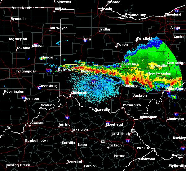 Radar Image for Severe Thunderstorms near Adelphi, OH at 4/8/2020 3:30 AM EDT