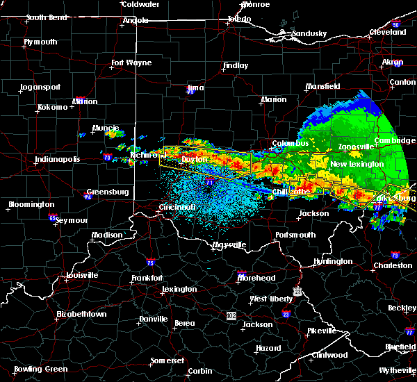 Radar Image for Severe Thunderstorms near Kettering, OH at 4/8/2020 3:43 AM EDT