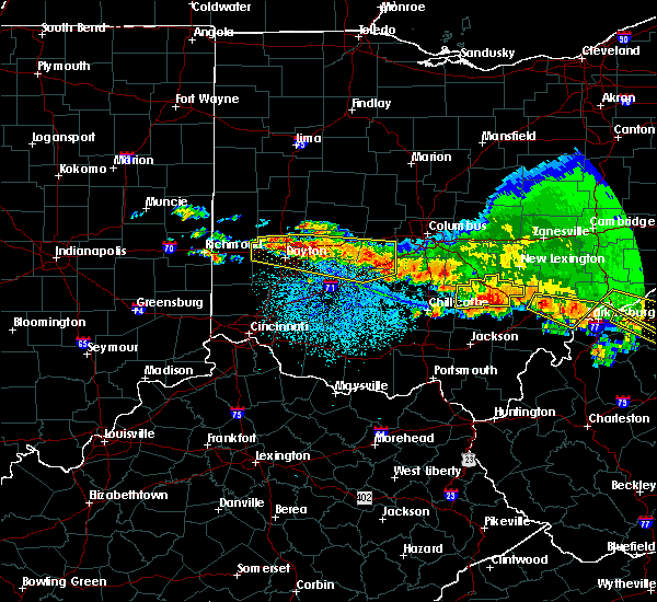 Radar Image for Severe Thunderstorms near Milledgeville, OH at 4/8/2020 3:54 AM EDT