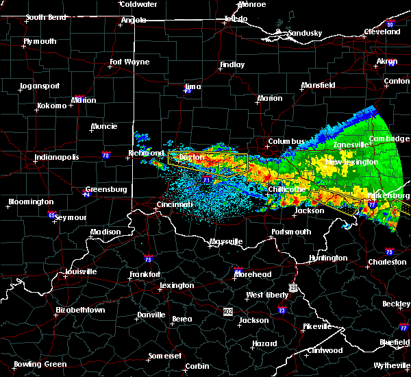 Radar Image for Severe Thunderstorms near Milledgeville, OH at 4/8/2020 4:05 AM EDT