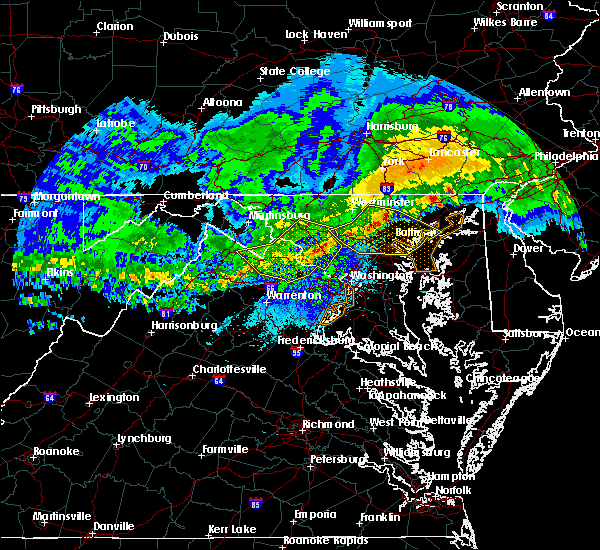 Radar Image for Severe Thunderstorms near Montgomery Village, MD at 4/8/2020 4:08 AM EDT