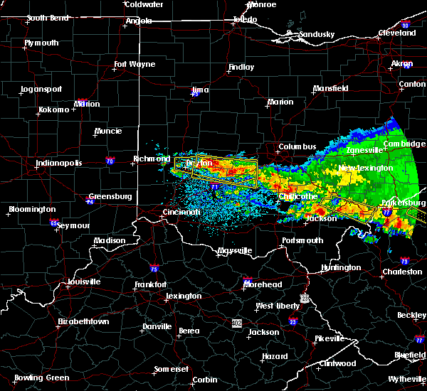 Radar Image for Severe Thunderstorms near Kettering, OH at 4/8/2020 4:18 AM EDT
