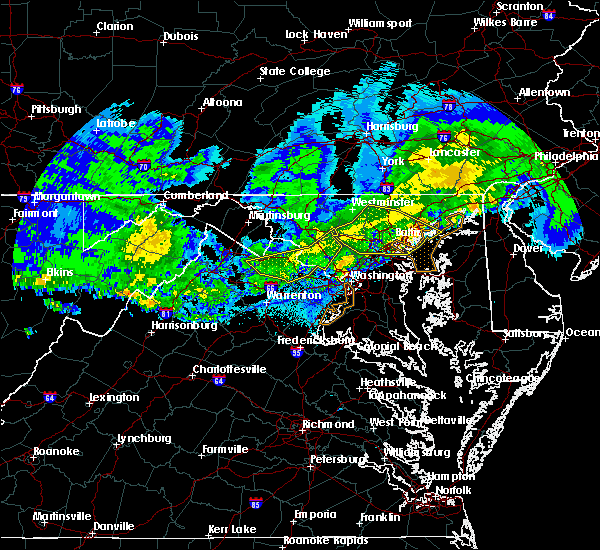 Radar Image for Severe Thunderstorms near Montgomery Village, MD at 4/8/2020 4:23 AM EDT