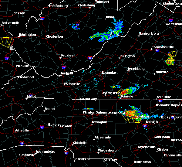 Radar Image for Severe Thunderstorms near Blairs, VA at 6/25/2015 6:04 PM EDT