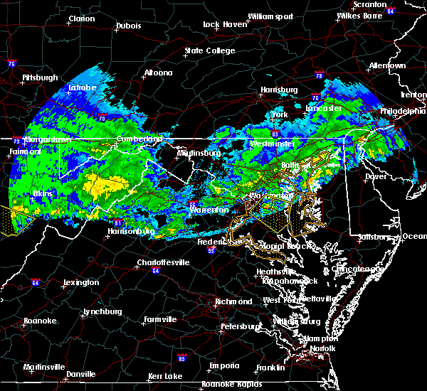 Radar Image for Severe Thunderstorms near Temple Hills, MD at 4/8/2020 4:45 AM EDT
