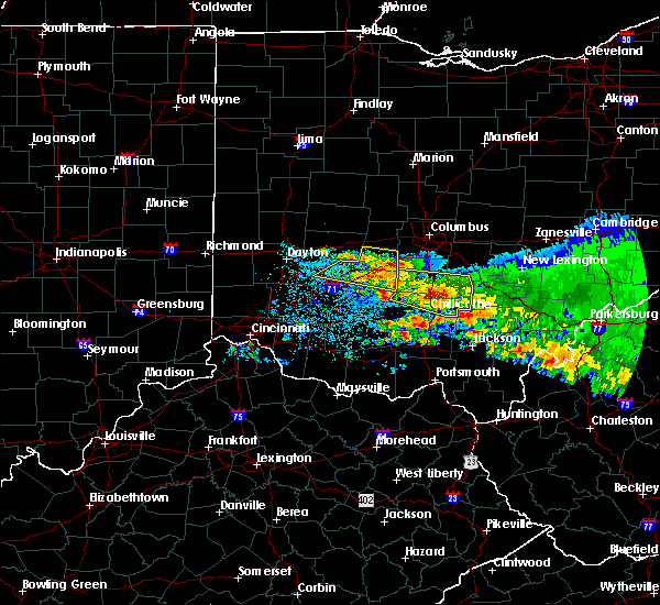 Radar Image for Severe Thunderstorms near Shawnee Hills, OH at 4/8/2020 4:58 AM EDT