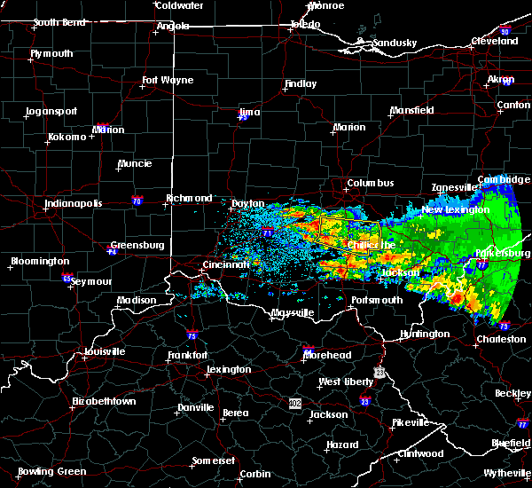 Radar Image for Severe Thunderstorms near Clarksburg, OH at 4/8/2020 5:09 AM EDT