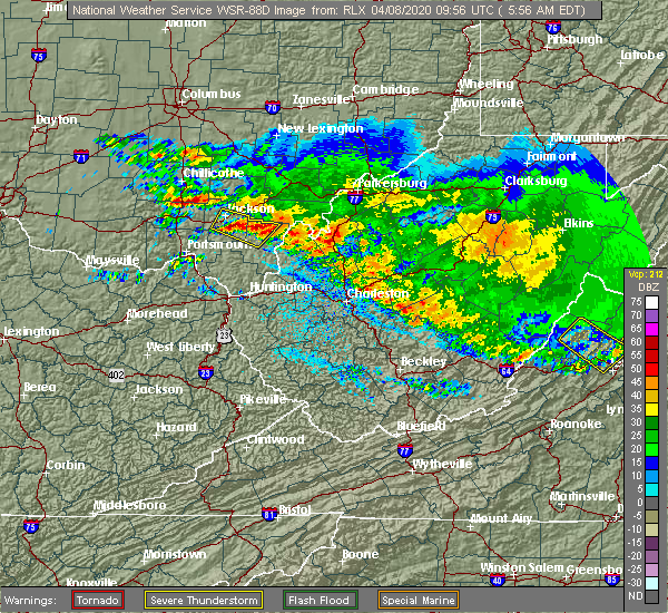 Radar Image for Severe Thunderstorms near Centerville, OH at 4/8/2020 6:03 AM EDT