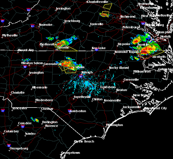 Radar Image for Severe Thunderstorms near Hillsborough, NC at 6/25/2015 6:06 PM EDT