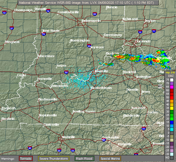 Radar Image for Severe Thunderstorms near Warsaw, KY at 4/8/2020 1:15 PM EDT