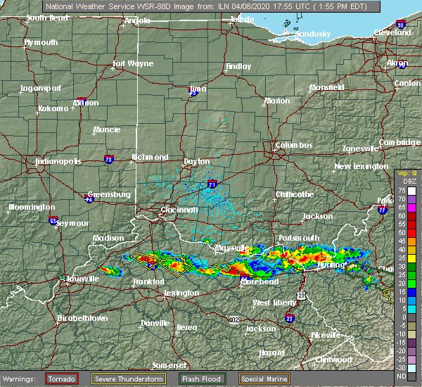 Radar Image for Severe Thunderstorms near Cynthiana, KY at 4/8/2020 1:59 PM EDT