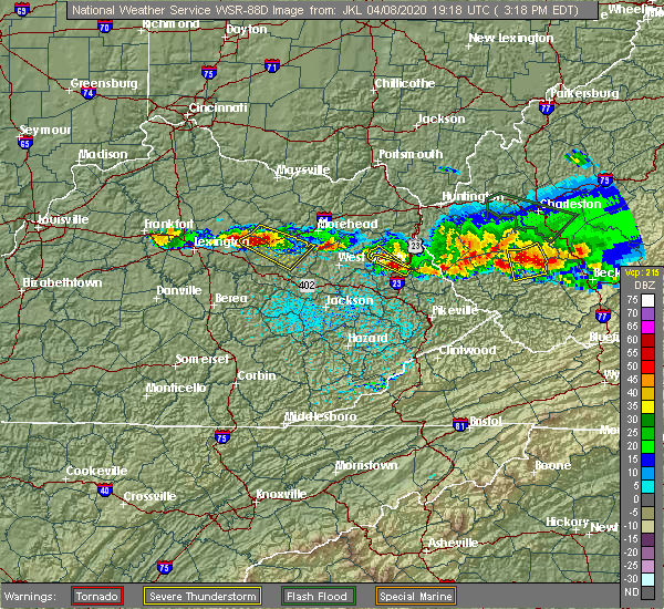 Radar Image for Severe Thunderstorms near Frenchburg, KY at 4/8/2020 3:21 PM EDT