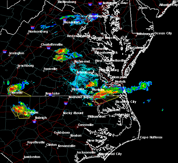 Radar Image for Severe Thunderstorms near Chesapeake, VA at 6/25/2015 6:16 PM EDT