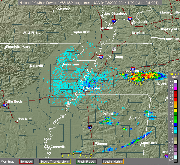 Radar Image for Severe Thunderstorms near Scotts Hill, TN at 4/8/2020 3:23 PM CDT