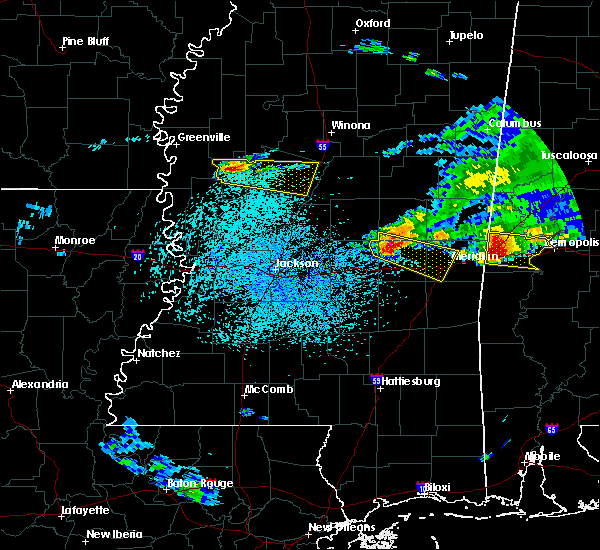 Radar Image for Severe Thunderstorms near Newton, MS at 4/8/2020 3:27 PM CDT