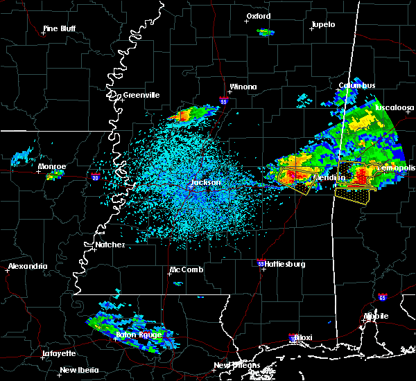 Radar Image for Severe Thunderstorms near Decatur, MS at 4/8/2020 3:38 PM CDT