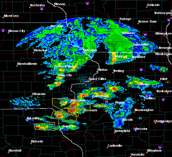 Radar Image for Severe Thunderstorms near Bushnell, IL at 4/8/2020 3:52 PM CDT