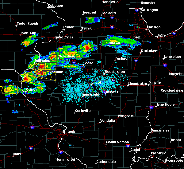 Radar Image for Severe Thunderstorms near Bushnell, IL at 4/8/2020 3:53 PM CDT