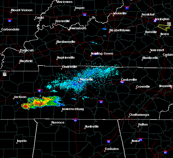 Radar Image for Severe Thunderstorms near Clifton, TN at 4/8/2020 3:56 PM CDT