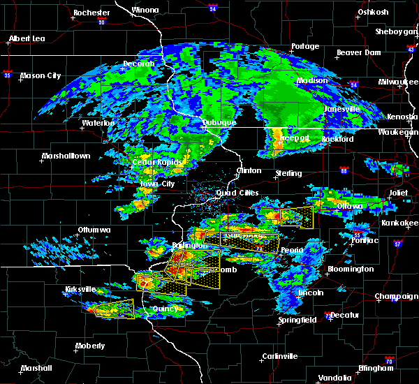 Radar Image for Severe Thunderstorms near Bushnell, IL at 4/8/2020 3:57 PM CDT