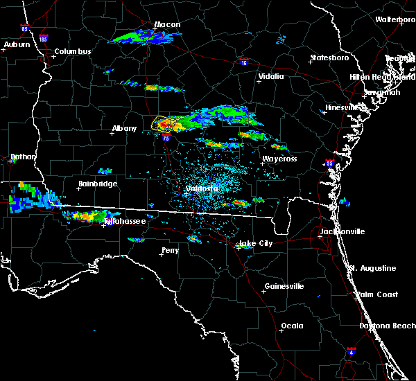 Radar Image for Severe Thunderstorms near Fitzgerald, GA at 4/8/2020 4:59 PM EDT