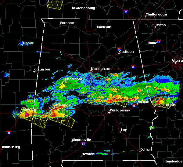 Radar Image for Severe Thunderstorms near Demopolis, AL at 4/8/2020 4:06 PM CDT