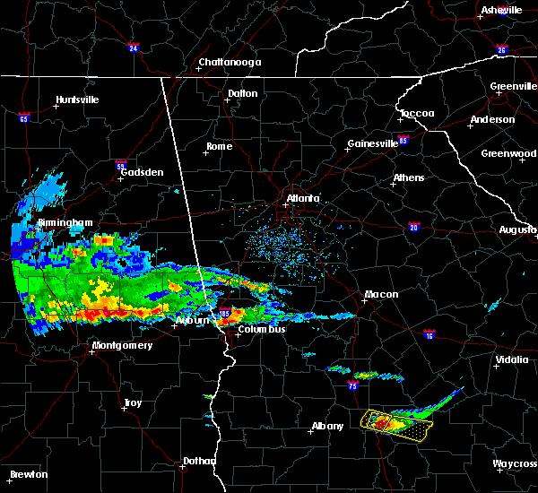 Radar Image for Severe Thunderstorms near Columbus, GA at 4/8/2020 5:05 PM EDT