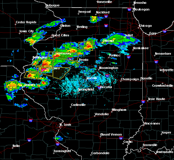 Radar Image for Severe Thunderstorms near Bushnell, IL at 4/8/2020 4:08 PM CDT
