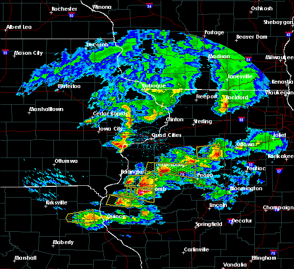 Radar Image for Severe Thunderstorms near Farmington, IL at 4/8/2020 4:11 PM CDT