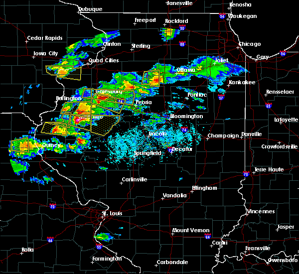 Radar Image for Severe Thunderstorms near Augusta, IL at 4/8/2020 4:13 PM CDT